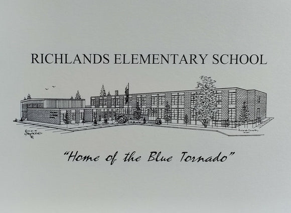 Richlands Elementary School note card (c) 2021 Robert E Duff Sr - duffcreations.com
