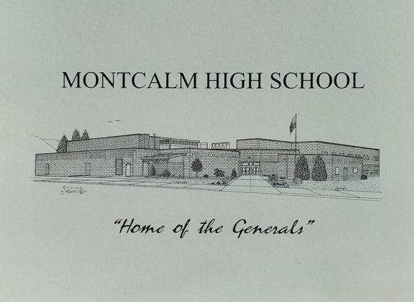 Montcalm High School note card (c) 2021 Robert E Duff Sr - duffcreations.com