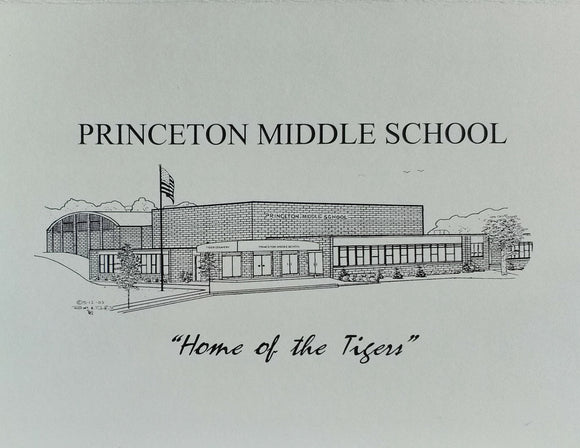 Princeton Middle School note cards (c) 2021 Robert Duff Sr - duffcreations.com