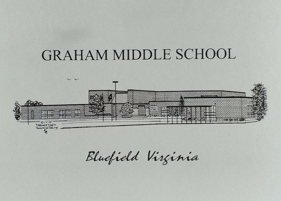 Graham Middle School note cards (c) 2021 Robert E Duff Sr - duffcreations.com