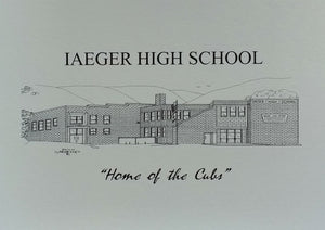 Iaeger High School (former) note card (c) 2021 Robert E Duff Sr - duffcreations.com