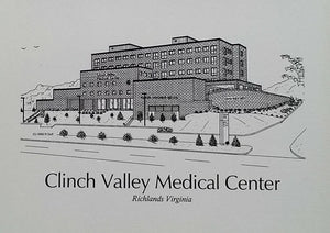 Clinch Valley Medical Center note cards (c) 2021 Robert E Duff Sr -  duffcreations.com