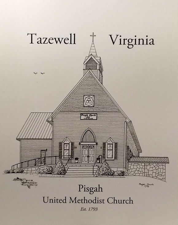 Pisgah UMC note cards (c) 2021 Robert E Duff Sr - duffcreations.com