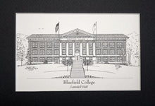 Bluefield College Graduation Gifts - Pen & Ink matted print  (Choose from 3 buildings)