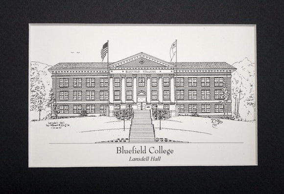 Bluefield College  - Lansdell Hall print duffcreations.com (c) 2020 Robert Duff Sr