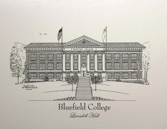 Bluefield State College Lansdell Hall note cards duffcreations.com (c) 2020 Robert Duff Sr