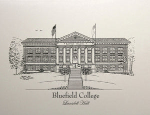Bluefield College Lansdell Hall Note Cards  (c) 2019 Robert E Duff Sr