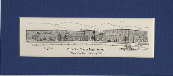 Princeton Senior High school print duffcreations.com (c) 2020 Robert Duff Sr