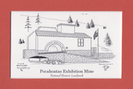 "Pocahontas Exhibition Mine #3 -  5"" x 7"""
