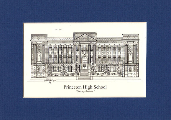 Princeton High School (Straley) Print (c) 2020 Robert E Duff Sr - duffcreations.com