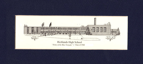 Richlands High School School Prints - Choose from  (3) Sizes