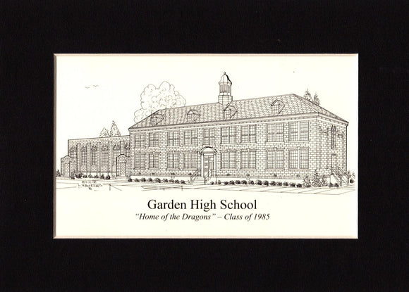 Garden High School Print (c) 2021 Robert E Duff Sr - duffcreations.com