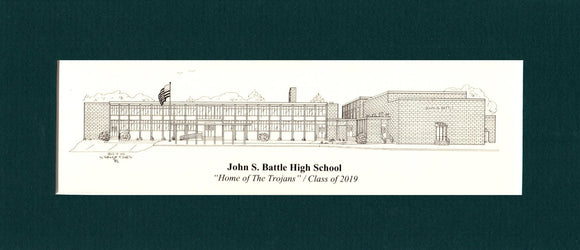 John S Battle High School print (c) 2021 Robert E Duff Sr - duffcreations.coml