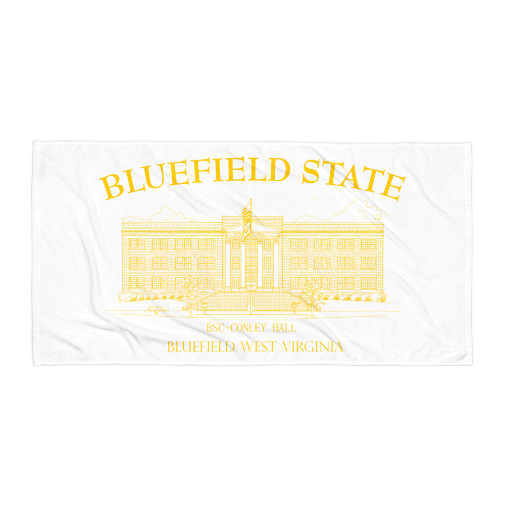 Bluefield State College Towel - Conley Hall gold