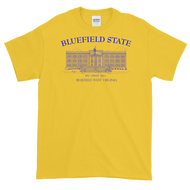 Bluefield State College Short-Sleeve T-Shirt gold with blue imprint