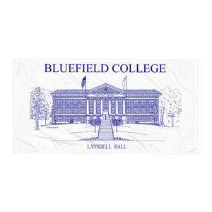 Bluefield College Lansdell Hall Towel - Navy Blue