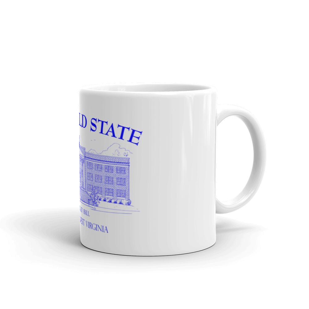Bluefield State College Mug - Standard Conley Hall - Blue