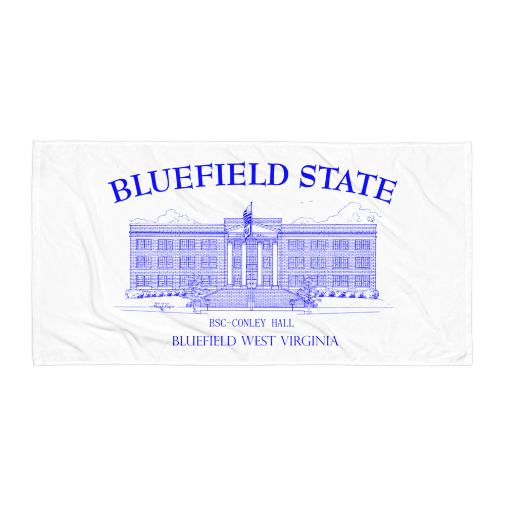 Bluefield State College Towel Conley Hall - Blue