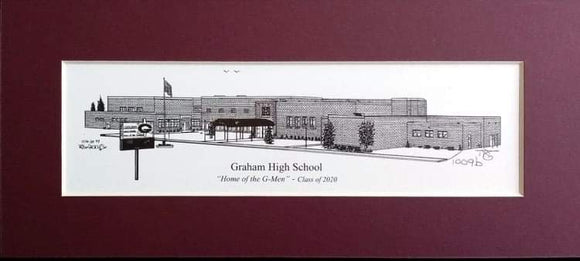 Graham High School (c) 2020 Artist: Robert Duff, Sr.