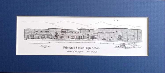Princeton Senior High School (c) 2020 Artist: Robert Duff, Sr.