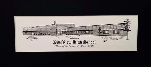 Pikeview High School Print (c) 2021 Robert E Duff Sr - duffcreations.com