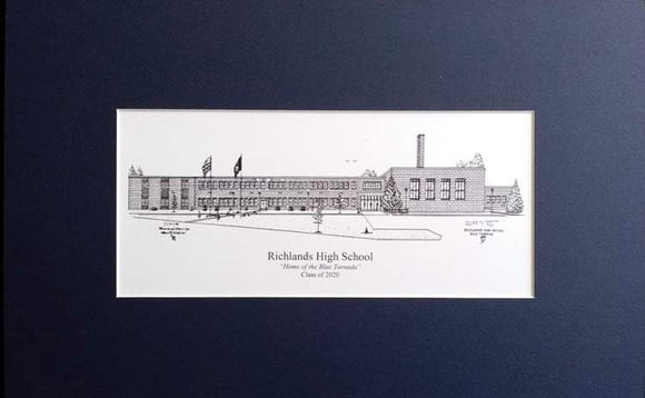 Richlands High School Print (c) 2021 Robert E Duff Sr - duffcreations.com