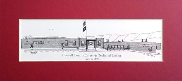Tazewell County Career Technical Center (c) 2020 Artist: Robert Duff, Sr.