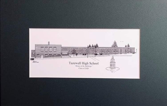 Tazewell High School Print (c) 2021 Robert Duff Sr - duffcreations.com