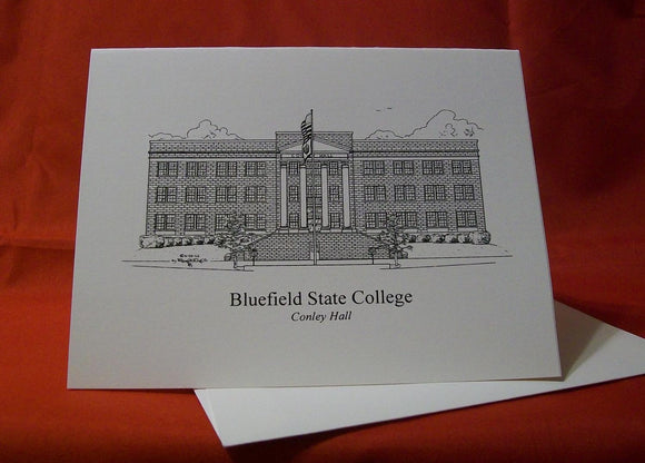 Bluefield State College - Conley Hall note card (c) 2020 Robert E