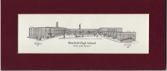 Bluefield High School Print duffcreations.com (c) 2020 Robert Duff Sr