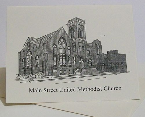 Tazewell Main Street UMC  note cards duffcreations.com (c) 2020 Robert Duff Sr