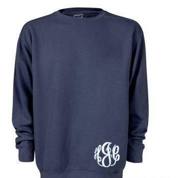 COMFORT COLORS crewneck sweatshirt with monogram