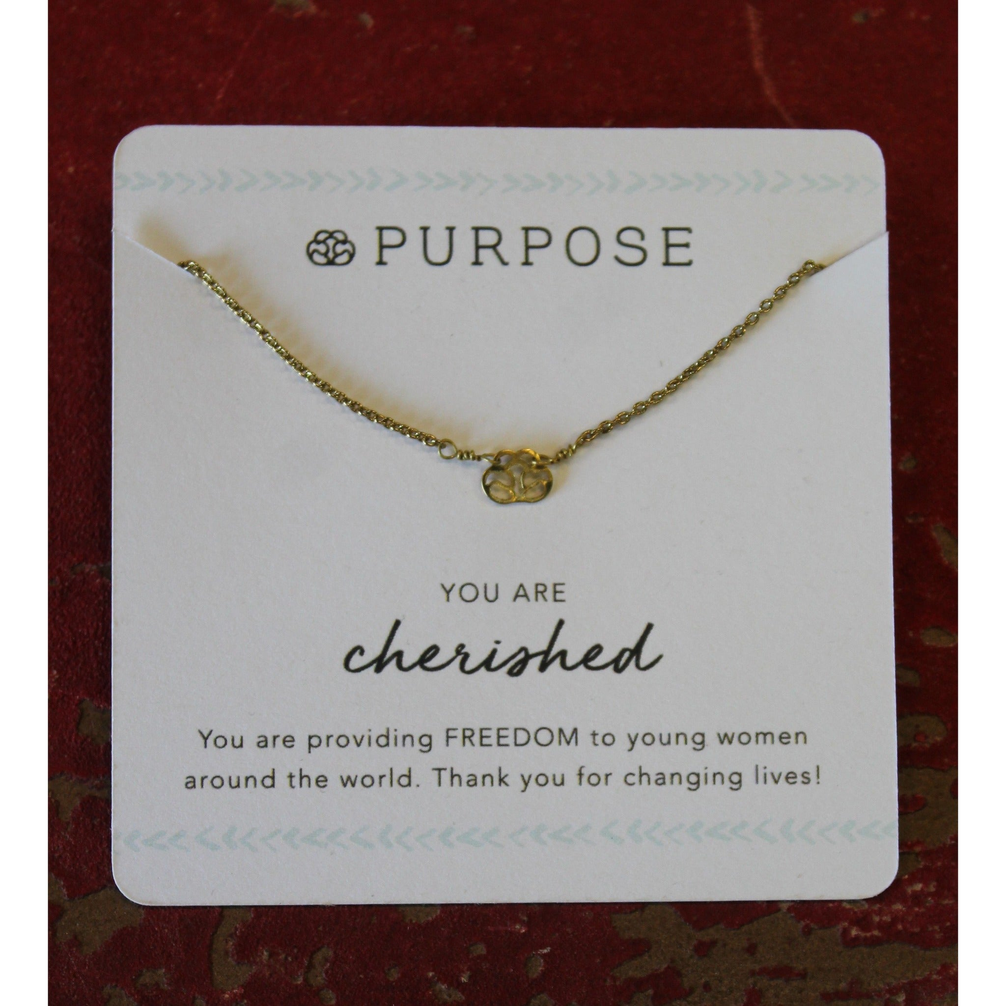 PURPOSE JEWELRY Handcrafted Dainty Signature Necklace