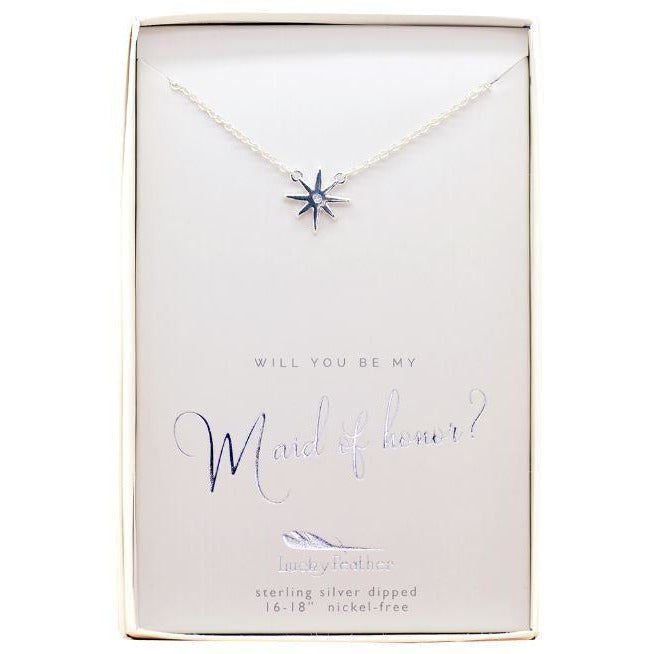 GUIDING STAR Maid of Honor Pendant Necklace