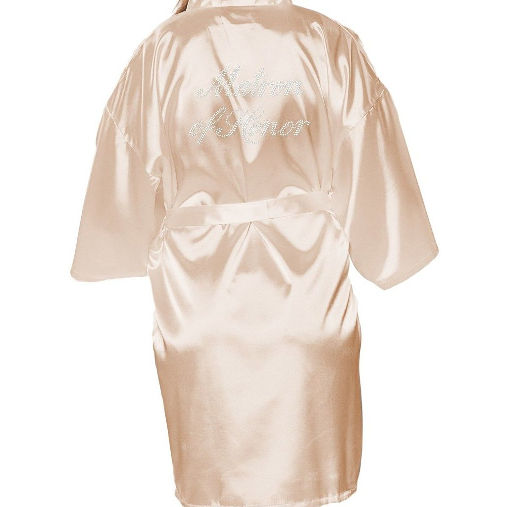 MATRON OF HONOR SATIN ROBE with Rhinestones
