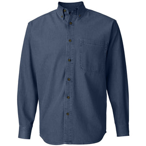MEREDITH Long-Sleeved Pocket Button Down Shirt