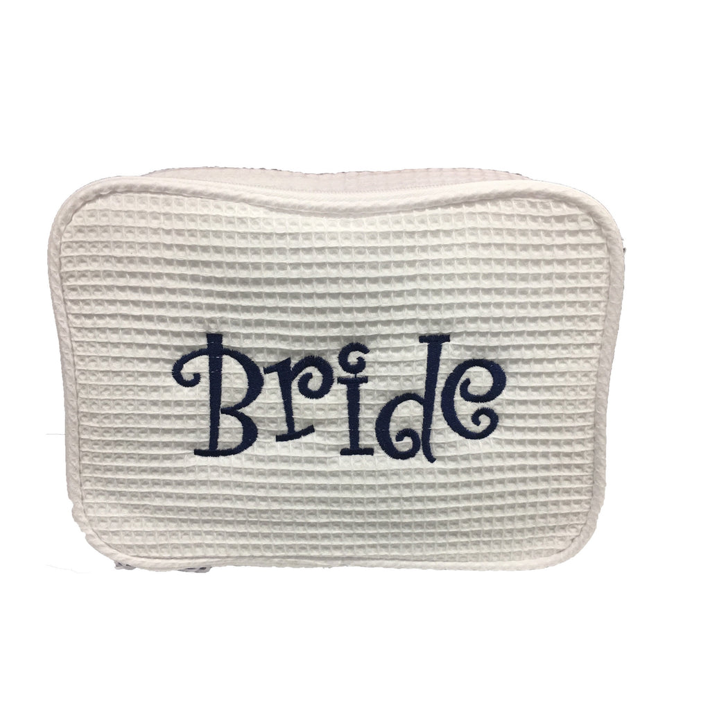 BRIDAL PARTY Waffle Cosmetic Bag