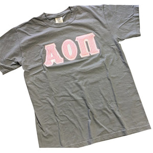 FALL/WINTER COLORS GREEK LETTERS Short Sleeve Comfort Colors T-Shirt