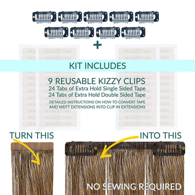 How to Convert Tape in Extensions to Clip in Hair Extensions