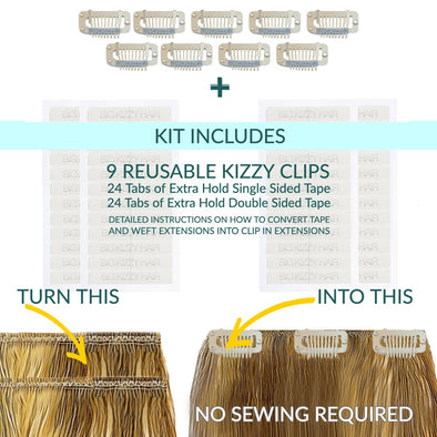 How to Convert Weft Hair Extensions to Clip in Hair Extensions