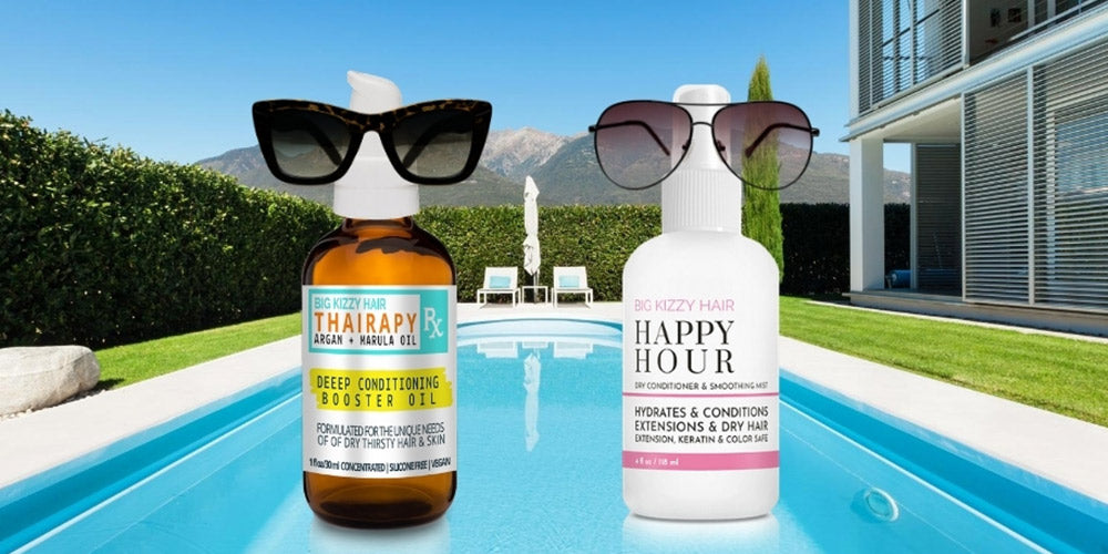 Sun Damage Prevention: Thairapy Deep Conditioning Booster Oil + Happy Hour