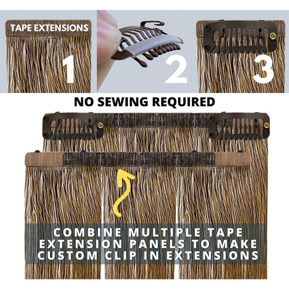 SNAP CLIPS | Convert Tape & Weft Hair Into Clip Ins - No Sewing