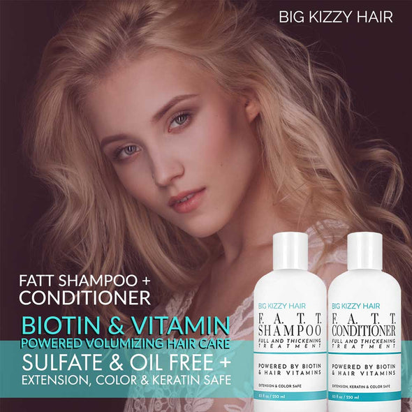 FATT Volumizing Thickening Biotin Extension Shampoo Conditioner 5