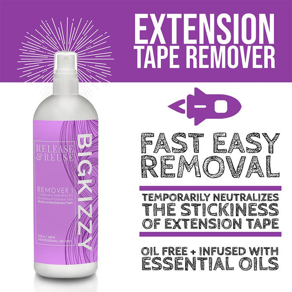 Tape Hair Extension Remover for Removal & Adhesive Residue 3