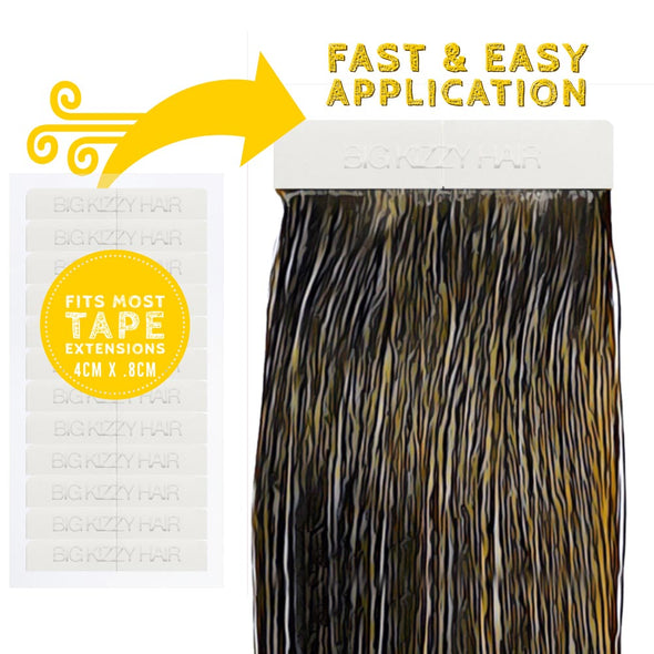 Hair Extensions Tape & Remover Kit | Sealing Tool + Tape + Removers