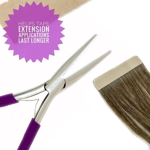 Blueberry Tape in Hair Extension Sealing/Pressing Tool
