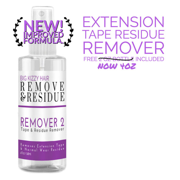 hair extension tape remover for adhesive  residue