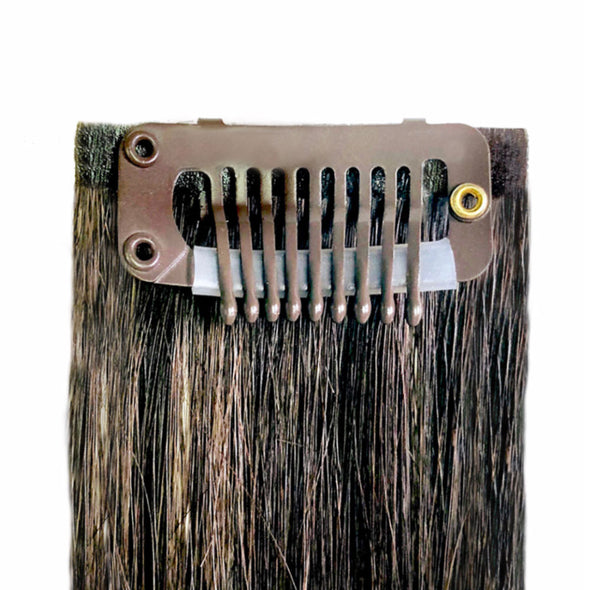 Brown No Sew Clips for Hair Extensions - Tape & Weft Extensions