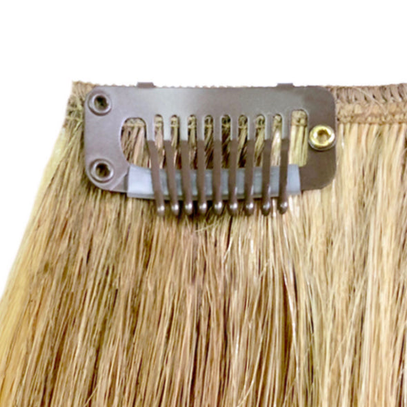 Blonde No Sew Clips for Hair Extensions - Tape & Weft Extensions