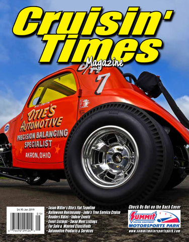 Otie's Automotive Fiat Topolino featured in Cruisin' Times Magazine, January 2019 Issue